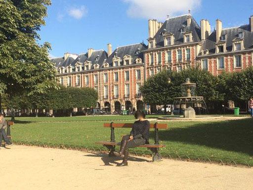 Jardin de la Place des Vosges, Marais 75004