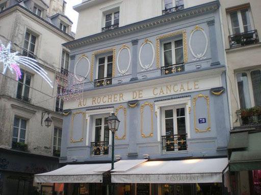 Le Rocher de Cancale, un des plus vieux cafés rue Montorgueil, 75002