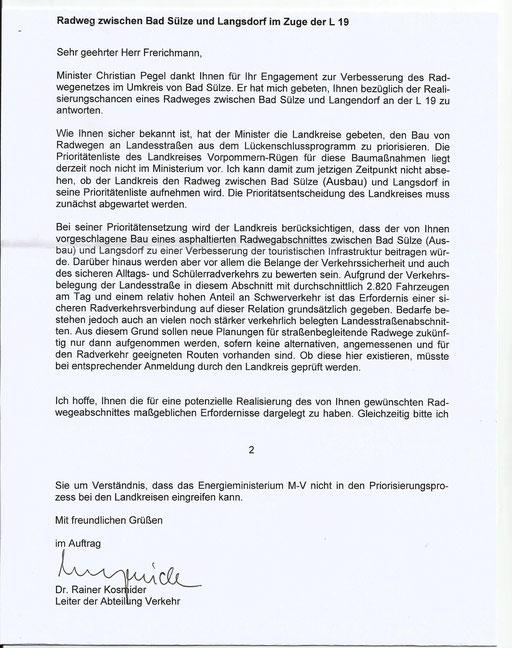 Antwort aus dem Ministerium vom 4.12.2014,  seither hat sich nichts getan....