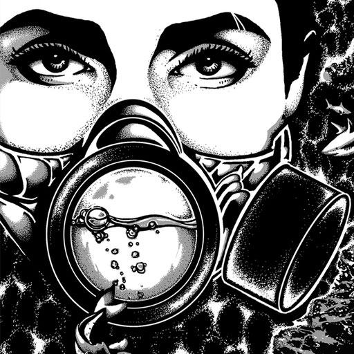 illustration schwarzweiß abstrakt art düsseldorf