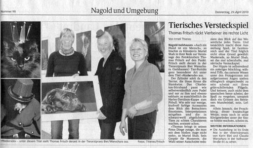 Maskerade Ausstellung Fritsch Fotograf Nagold