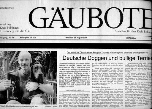 Hundeblicke.Bildband.Fotograf.Fritsch.2001