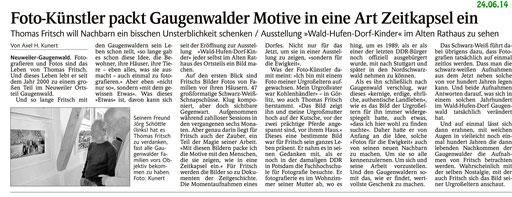 Vernissage.Waldhufendorfkinder.Gaugenwald
