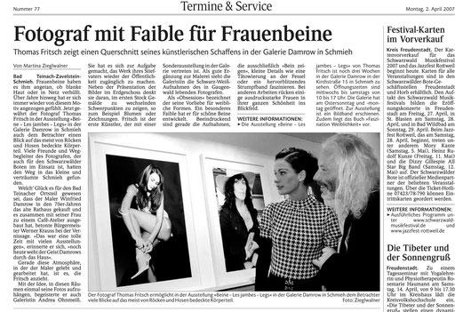 Ausstellung Beine Fotograf Fritsch 2007