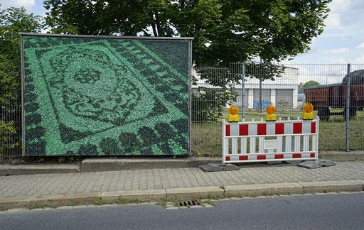 """Stadtraum Dresden, Großflächenplakate """"Displa(y)ced Feuerwache Loschwitz 2017"""