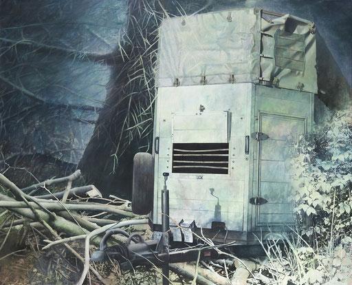 Transport, Acryl auf Leinwand, 170 x 210 cm, 2009