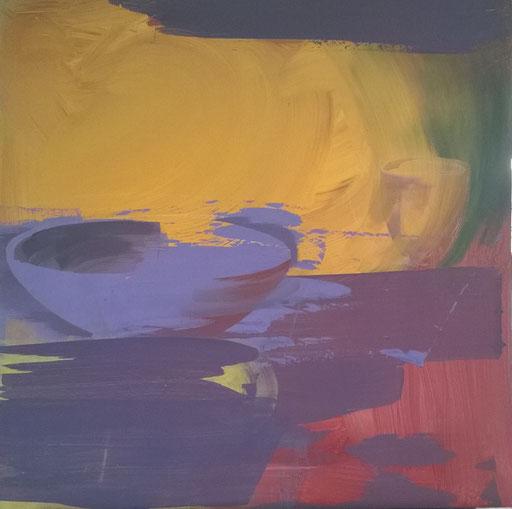Stilles Leben 1, Acryl auf board, 100/100 cm, 2016