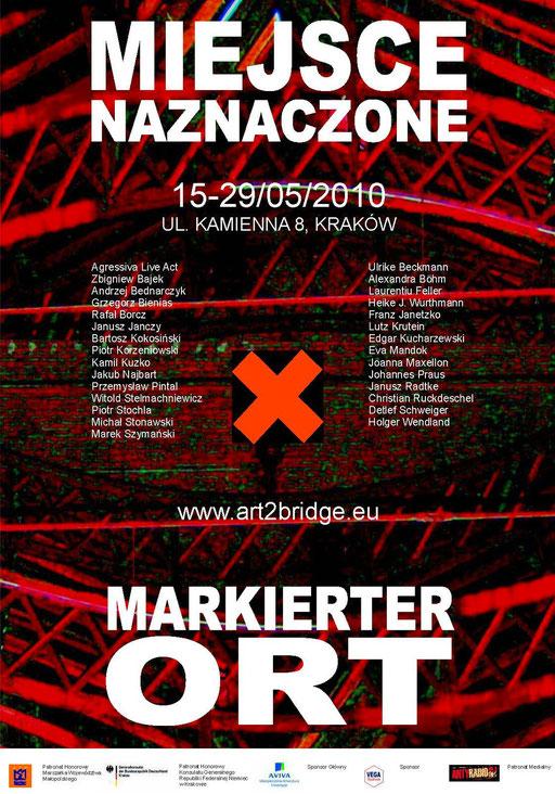Plakat Ausstellung Markierter Ort Krakow