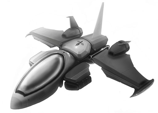Aero fighter model 1 (Photoshop)