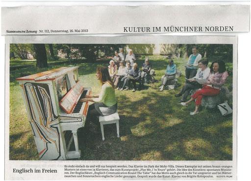 Play me I'm Yours in der Mohr-Villa - Mai 2013