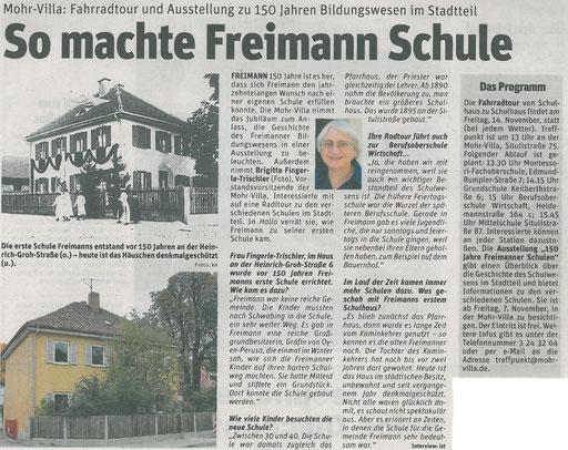 So machte Freimann Schule - Oktober 2014