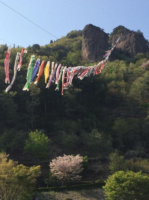 嵩山たけやまは古代から霊山として中之条の各地から信仰を集めていました。 山内には「嵩山三十三番観世音」が点在しているそうです。