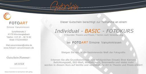 Geschenkgutschein Basic-Fotokurs