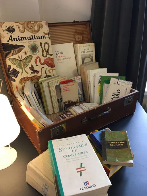 Journée de coaching d'écriture Art2work Voyage avec la valise aux livres