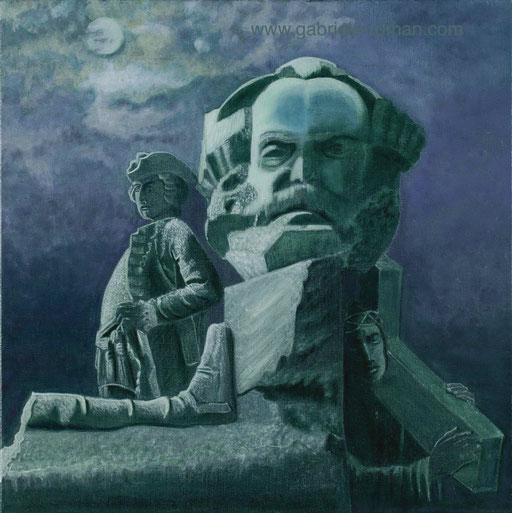 Denkmal, Preußischer Soldat, Karl Marx, Jesus Christus mit Kreuz