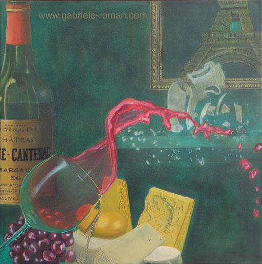 Paris, Eiffelturm, franz. Lebensart, Rotwein und Käse unter Beschuss, Attentat