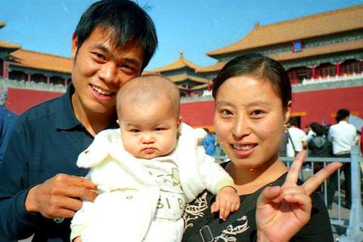 sogar ein Baby war bei der anstrengenden Besichtigung mit dabei