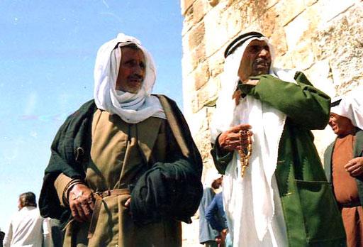 die Palästinenser wie vor hundert Jahren