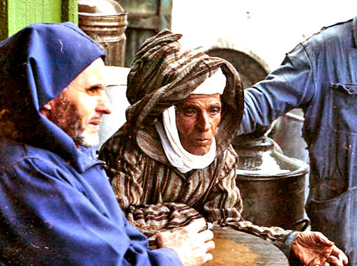 ein stolzes Berber Gesicht, das ein grosses Leben ausdrückt