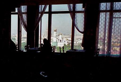 Blick vom Restaurant meines Moskauer Hotels über Moskau