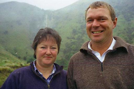 Patrick und Helen, das stolze Farmer-Ehepaar