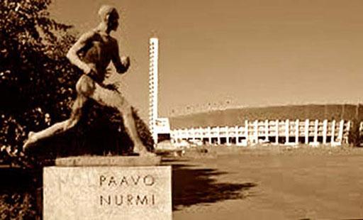Denkmal von Paovo Nurmi, dem finnischen Wunderläufer