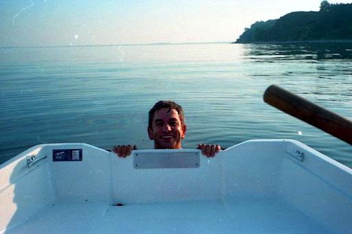 nur mit grosser Anstrengung kam ich wieder in das Boot