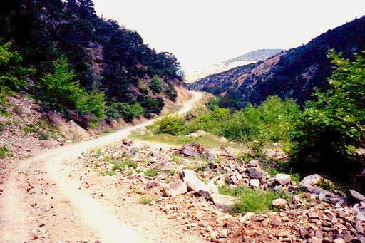 die Nebenstrecke nach Kozani