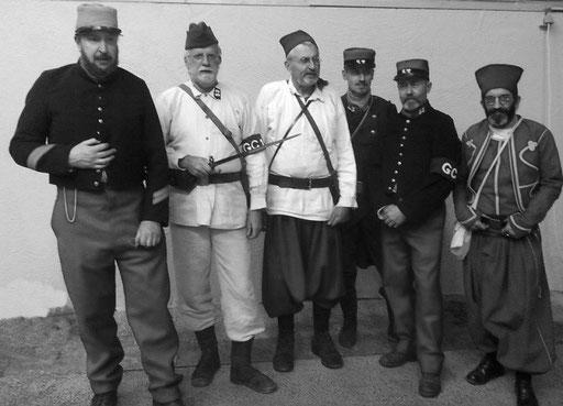 französische Krieg-Veteranen in Bar-le-Duc