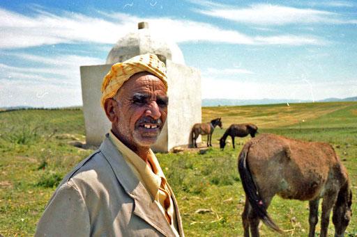 Irdin mit seiner kleinen Pferde-Herde
