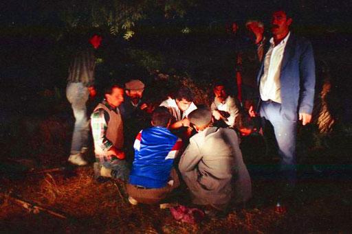 am Abend kamen noch Bekannte aus dem nahen Horosan dazu