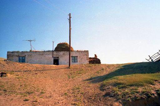 ganz oben das Haupthaus der Kurden-Siedlung