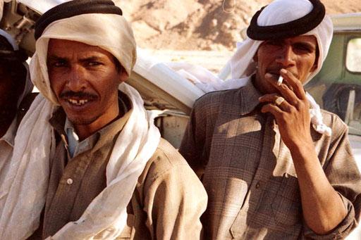 die jungen Beduinen waren gut aufgestellt.