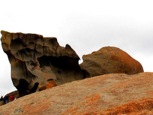 150 km fahren die Besucher auf Kongaroo-Island um diese natürlichen Skulpturen zu sehen