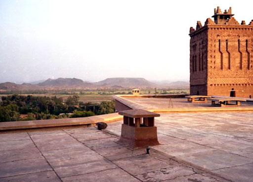 Panorama-Aussicht von der Hotel-Dachterrasse