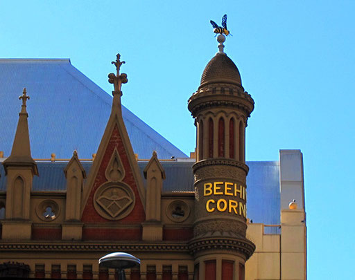 Beehive Corner - bekanntes Wahrzeichen und Treffpunkt in Adelaide