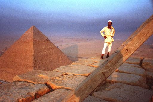 auf der Cheops-Pyramide - ein Moment für die Ewigkeit