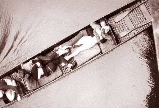 auf der Themse wurde nicht nur gepaddelt sondern auch geliebt