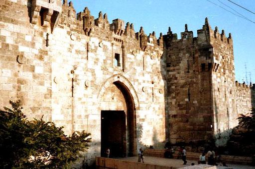 das Damaskus-Tor - Eingang zur Altstadt von Ost-Jerusalem