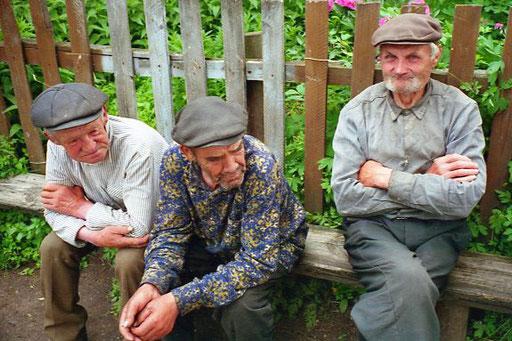 auf der Hausbank der alten Herren