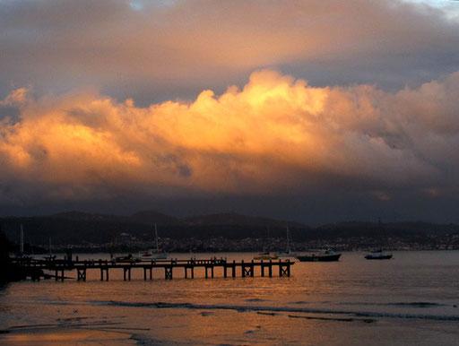 im schönen Hobart ging der erste Tasmanien-Tag zu Ende