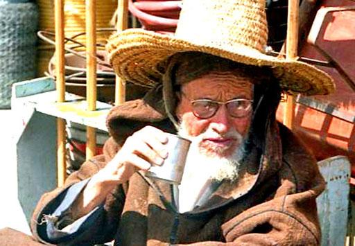 ein Händler bei der Tee-Pause