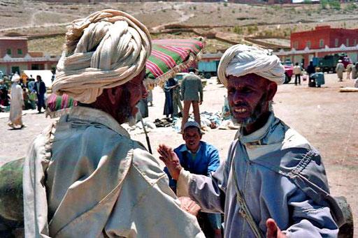 die Berber am Markt nahmen mich kaum zur Kenntnis
