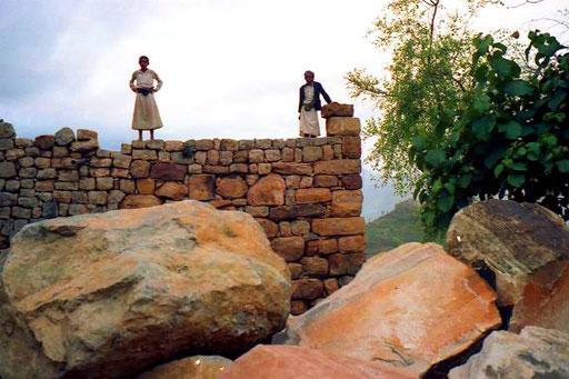 die Jeminiten waren früher Meister des Steinbaus