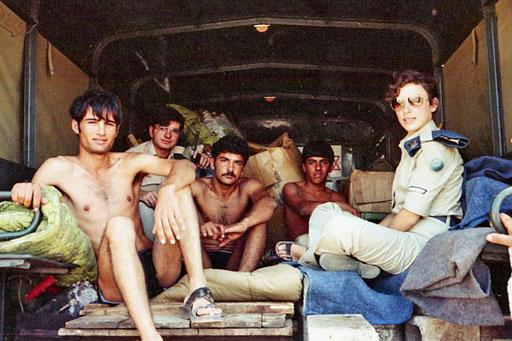 der Rückzug der Israelis aus Sinai hatte begonnen