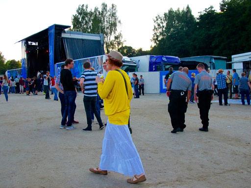 eine individuelle Festival-Besucherin