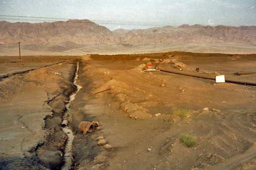das Wasser für diese Mini-Siedlung kam aus den weit entfernten Bergen