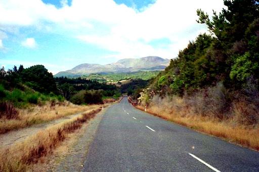 unterhalb des Tongariro-Vulkans, der zwei Jahre später ausbrach