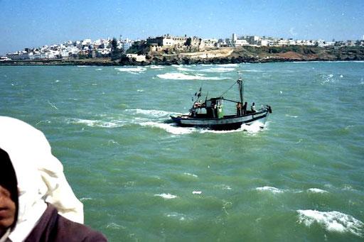 das Mündungsbecken des Bou Regreg in Rabat