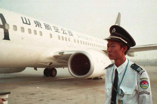 die Maschine der Southern Airline wurde direkt am Rollfeld abgefertigt